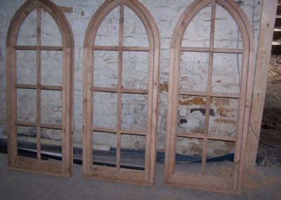Oak Gothic window frame and sashes, SASPOONER