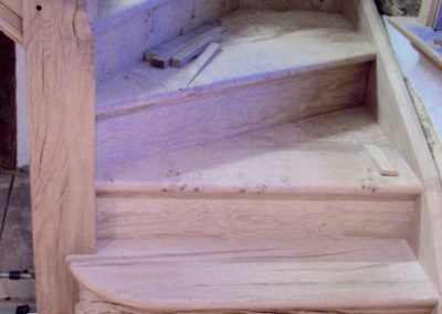 Oak Period Staircase with Solid Steps S A SPOONER