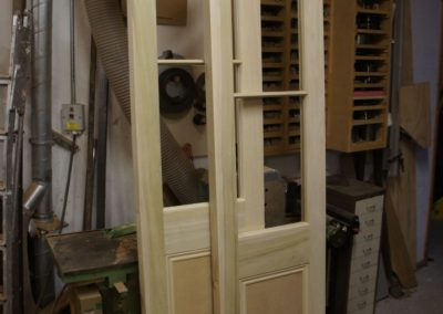 Tulip wood panel and glazed doors,to be painted.SASPOONER