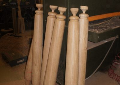 Some of the hand posts required for this garden design.  SASPOONER