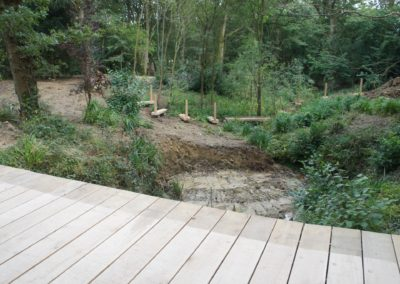 The view from the new road bridge with the hand post that we also made and supplied.  SASPOONER
