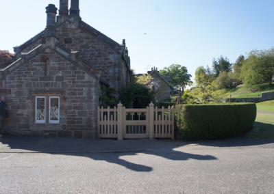 Vine Cottage in full slender, confirming the main entrance.  SASPOONER