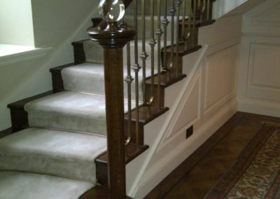 Cut String Oak and Painted Staircase  Remodel S A SPOONER