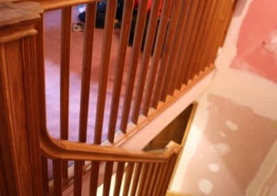 Oak Cut String Staircase  SASPOONER