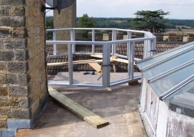 Roof Lantern being fitted on the only available space.SASPOONER