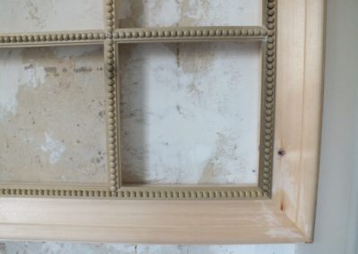 The Mirror frame detailed with Pea moulding , only 1380 Pea's ! The frame to receive a painted finish