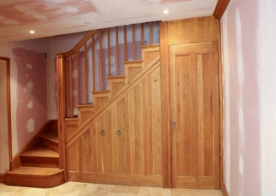 Oak Staircase made for the same house as fitted Wardrobes. SA Spooner